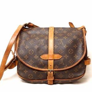 Auth Louis Vuitton Saumur 30 Crossbody #2173L17